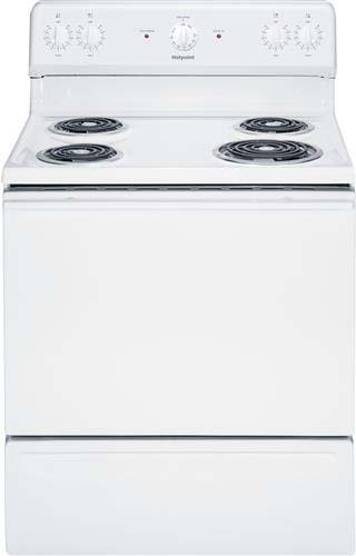 """Hotpoint Rb525Dhww 30"""" White Electric Coil Range front-532272"""