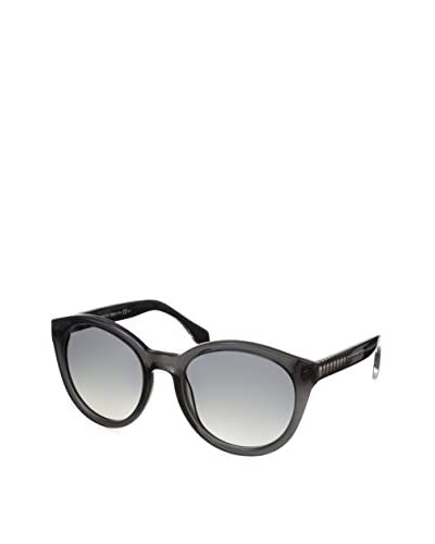 Alexander McQueen Women's AMQ4254/S Gray Crystal/Dark Gray Shade Sunglasses