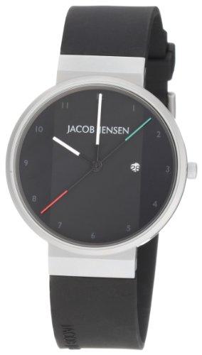 Jacob Jensen - 32732s - Montre Homme - Quartz - Analogique - Date - Bracelet Caoutchouc Noir