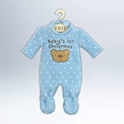 Hallmark 2012 Keepsake Ornaments QXG4614 Baby Boys First Christmas Onesie