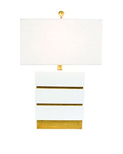 Couture San Simeon Table Lamp, Gloss White