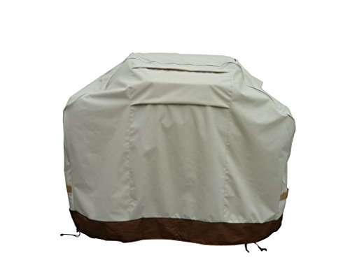Glorious Montana 8253 Premium Large Universal Cover With Unique Dual Strap System Fits Grills Up To 70 Inches Wide Including Weber, Holland, Jenn Air, Brinkmann, Char Broil, & More.