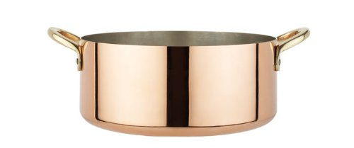 Italian Copper Casserole and stew Pan (1.8mm-2.0mm thick)