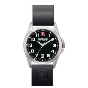 Swiss Military Hanowa Men's 06-4030-04-007R Tomax Black Dial Leather Strap Watch