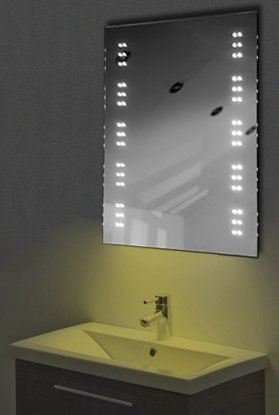 Ambient Shaver Led Bathroom Illuminated Mirror With Demister Pad & Sensor K11Sy