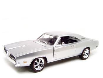 Buy 1969 Dodge Charger Classics Silver Diecast Model 1:18 Die Cast Car