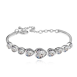 K-DESIGN 100% Austria Crystal Platinum Plated Bangles 8311