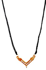 SUVIS V  Shaped Sleek Mangalsutra available at Amazon for Rs.99