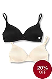 2 Pack Angel Non-Wired Moulded First Bras