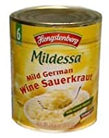 Mild German Wine Sauerkraut (Hengst.) 28.6oz (810g) by parthenonfoods.com