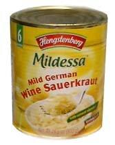 Mild German Wine Sauerkraut (Hengst.) 28.6oz (810g) by parthenonfoods.com