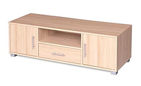 Buying Guide of  TV Stand Entertainment Unit 1 Drawer 2 Door Oak Cabinet Flat Screen Sorrento