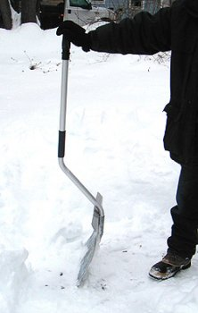 Back-Saver Snow Shovel