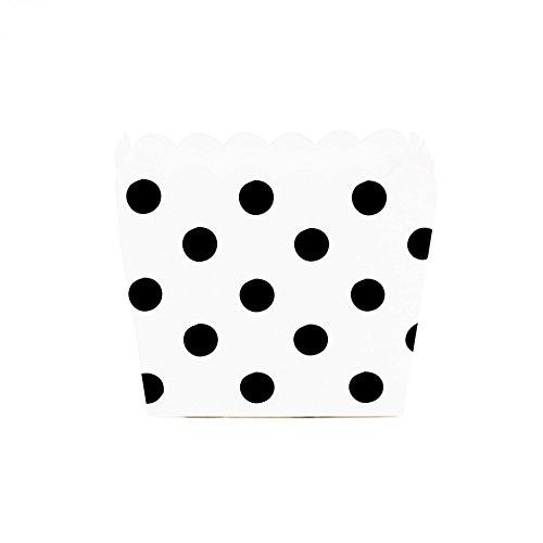 Dress My Cupcake Polka Dot Square Loaf Pan Favor Box (Set of 12), Black (Polka Dot Cookware compare prices)