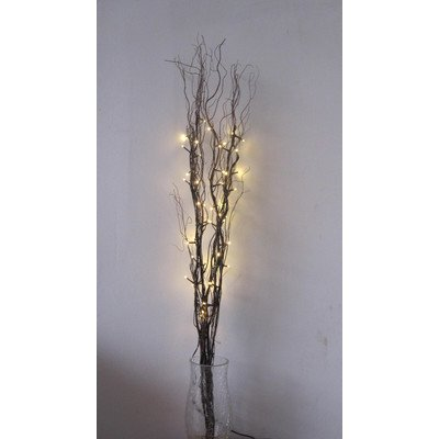 Creative Motion Natural Willow Lighted Branches With Timer, 39-Inch