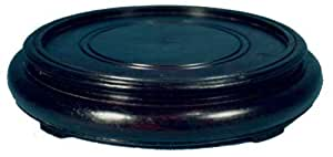 "Solid round black wood stand - 3""D base for vases, bowls and art"