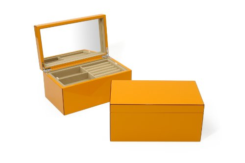 Swing Design Elle Lacquer Jewelry Box, Orange