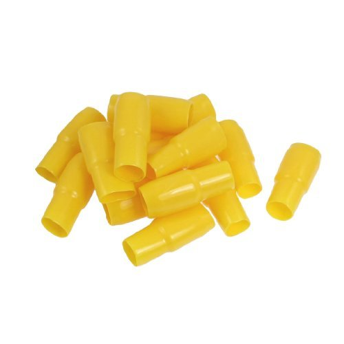 Water & Wood 15 Pcs 17Mm Cable Yellow Insulated Battery Terminal Boots Pvc Covers front-618956