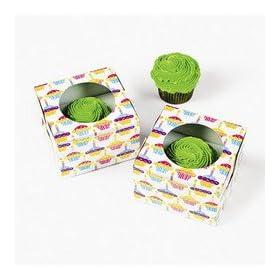 12 pc CUPCAKE boxes - cupcakes print boxes!!