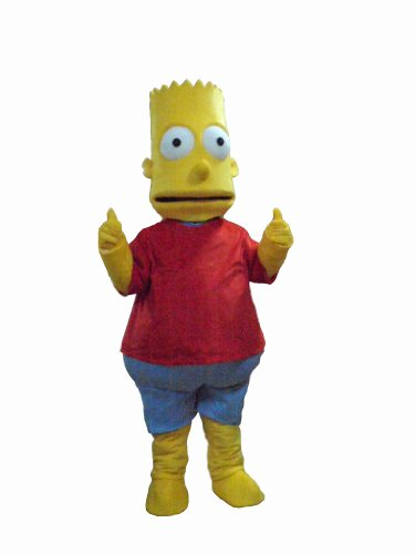 The Simpsons Bart Mascot Costumes Halloween Fancy Dress Outfit Suit