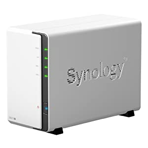 Synology DiskStation 2-Bay (Diskless) Network Attached Storage DS212j (White)