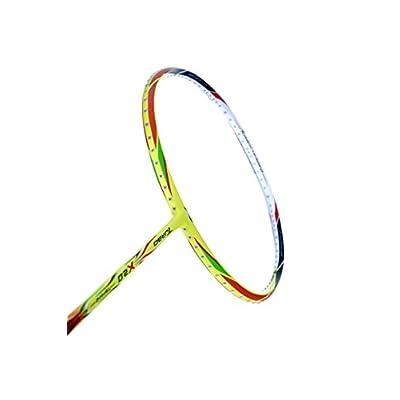 Li-Ning X2.0 Turbo Carbon Fiber Badminton Racquet, Size S2 (Orange/Yellow)