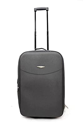 Super Lightweight Trolley Case Set 5 Luggage Expandable Cabin Approved Suitcase Grery