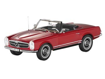 230 SL, Pagode, W 113, 1963-1967 rot, Norev, 1:18