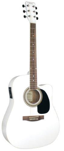 Johnson Jg-620-Cew 620 Player Series Cutaway Acoustic Electric Guitar, White