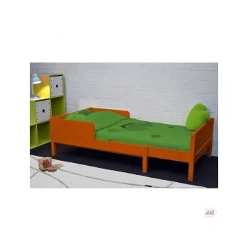 pas cher lit enfant extensible colors orange acheter en. Black Bedroom Furniture Sets. Home Design Ideas
