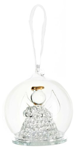 Glass Angel Bauble Ornament – Ganz Light Up Christmas Ornament
