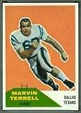 1960 Fleer Regular (Football) Card# 101 Marvin Terrell of the Dallas Texans Ex Condition