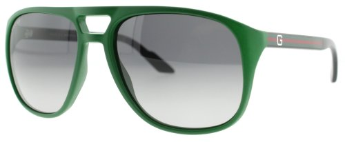 Gucci GG1018/S Sunglasses-0KR5 Green (EU Gray Gradient Lens)-57mm
