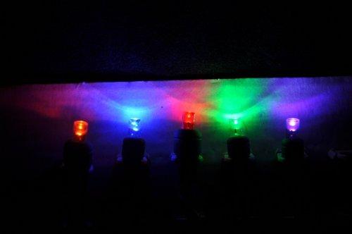 "Rainbow Multi (Red, Orange, Blue, Green, Purple) 12-Volt Wide Angle Led Light String 4""Spacing"