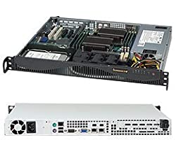 Supermicro 600 Watt Gold Level Certified 1U Rackmount Server Chassis (CSE-512F-600B)
