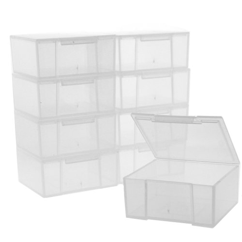 12 Storage Square Clear Container For Crafts Beads Small Items Organizer 2 inches Square (Acrylic Small Containers compare prices)