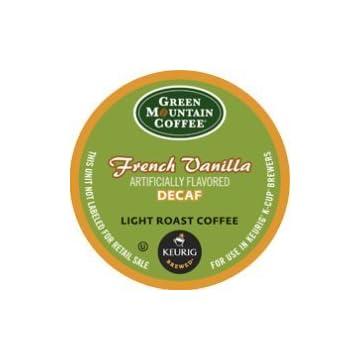 Green Mountain Coffee French Vanilla Decaf, Light Roast (Box of 24)