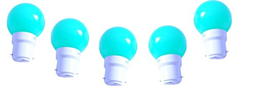 0.5 W LED Light Bulbs Green (Set of 5)