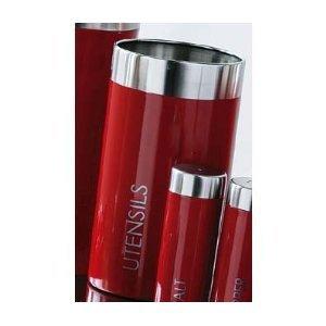 Premier Housewares Utensils Jar, Red Enamel