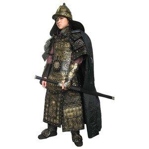 戦国・三国時代などの中国古代イメージして作られた鎧 中国古代鎧甲冑兜 剣・弓・矢付
