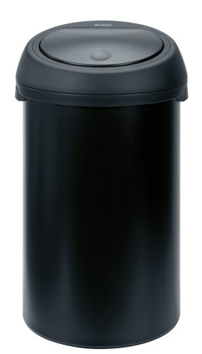 Brabantia Touch Bin, 50 Litre, Matt Black with Black Lid