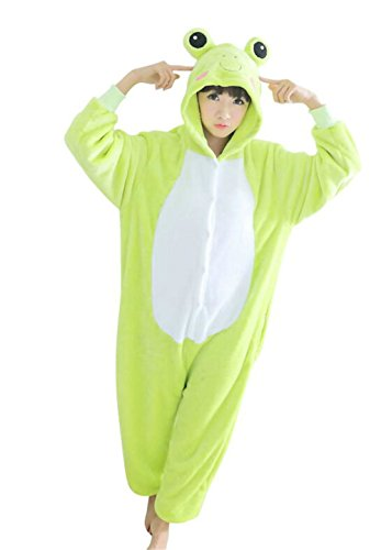 Wjia Winter Adult Cosplay Frog Flannel Animal Pajamas