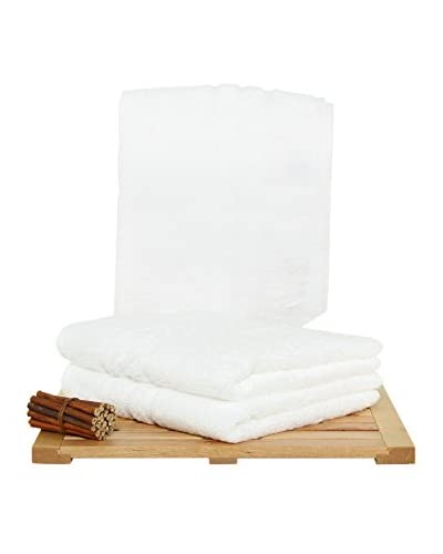 Maisonette Premium 3-Piece Hand Towel Set, White