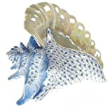 Herend Conch Shell Blue Fishnet