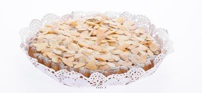 Artificielles - Tarte amandine aliment factice h 3,5 cm et d 20 cm bluffant