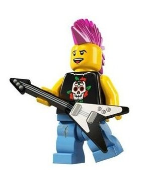 LEGO Series 4 Collectible Minifigure Punk Rocker - 1