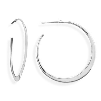 Flat Tapered Hoops