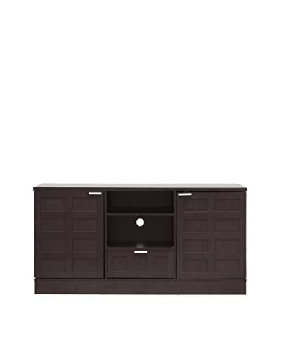 Baxton Studio Tosato Modern TV Stand & Media Cabinet, Dark Brown