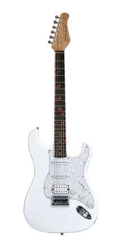 Fretlight Traditional Electric Guitar With Built-In Led Lighted Learning System, White (Fg-521Wh)