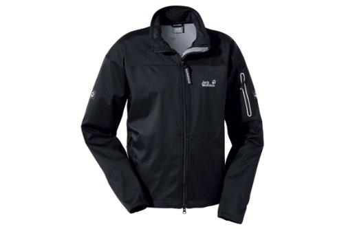 JACK WOLFSKIN Electron Softshell Men's Jacket, Black, XL